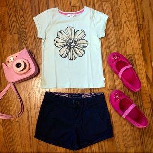 Zara Casual Girl Blue Shorts Size 6